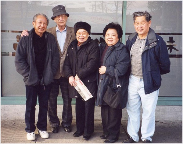 Dad with the Lee Family