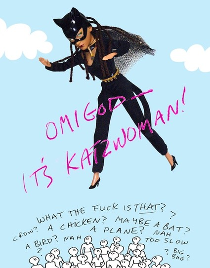 it's katzwoman! (digital print)